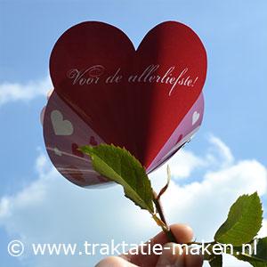 afbeelding traktatie Valentijns bloemetje