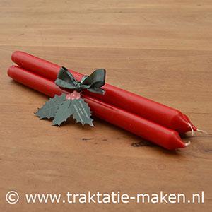 afbeelding traktatie Kerst kaarsen
