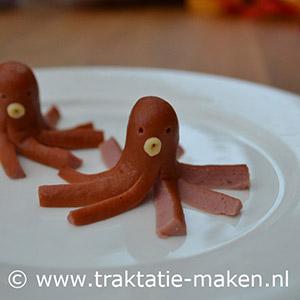 afbeelding traktatie Octopus van knakworst