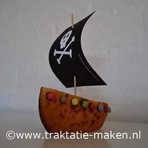 afbeelding traktatie Piratenschip