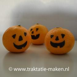 afbeelding traktatie Halloween pompoentjes