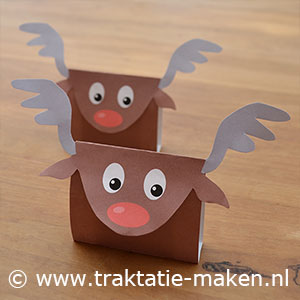 afbeelding traktatie Red nosed reindeer