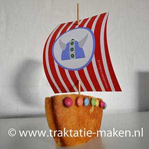 afbeelding traktatie Vikingschip