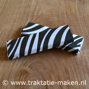 afbeelding traktatie Zebra chocoladereep